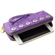 Portofel dama din piele ecologica cu impletituri - violet P00246