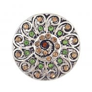 Bijuterie Buton Interschimbabil |  Ornament Floral Vintage 3 Culori   | Vintage | Cupru