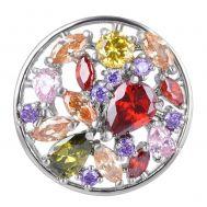 Bijuterie Buton Interschimbabil | Buchet Colorat din Pietre de Zirconiu si Alama | Luxury | Cupru