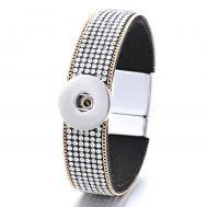 Bratara Moderna cu Cristale Albe si Inchidere Magnetica | Fashion