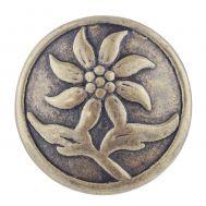 Bijuterie Buton Interschimbabil |  Floare de Colt | Vintage | Bronz