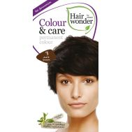 Vopsea par naturala, Colour & Care, 3 Dark Brown, Hairwonder, fig. 1