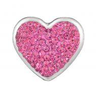 Bijuterie Buton Interschimbabil | Inima cu Cristale in 4 Variante | Fashion | Metal