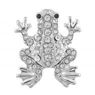 Bijuterie Buton Interschimbabil | Broscuta cu Cristale in 2 Culori | Fashion | Animal | Metal