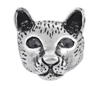 Bijuterie Buton Interschimbabil |  Pisica Vintage  | Animal | Metal