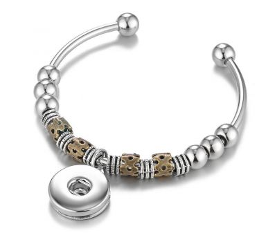 Bratara Interschimbabila Ajustabila cu Talismane Maro | Argintiu cu Bile din Cupru | Fashion