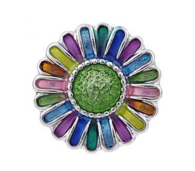 Bijuterie Buton Interschimbabil | Floarea soarelui multicolora | Fashion | Metal