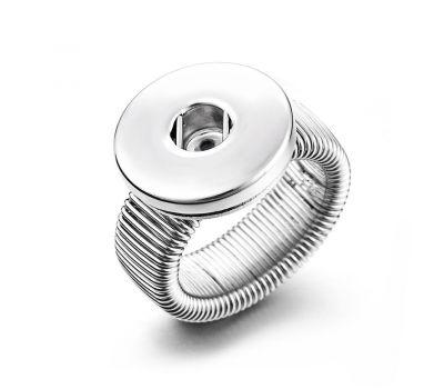 Inel UNISEX Ajustabil din Cupru pentru un Buton Interschimbabil