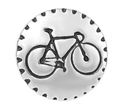 Bijuterie Buton Interschimbabil | Bicicleta Sport Pictata | Fashion | Metal si email