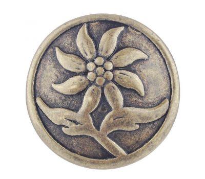Bijuterie Buton Interschimbabil    Floare de Colt   Vintage   Bronz