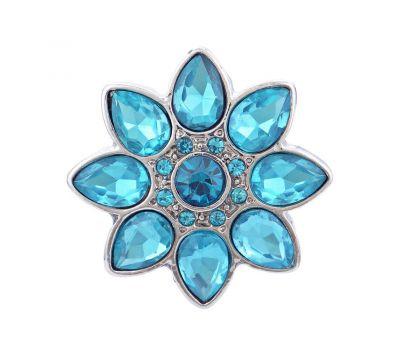 Bijuterie Buton Interschimbabil Model Floral Cu Cristale in 4 culori, fig. 5