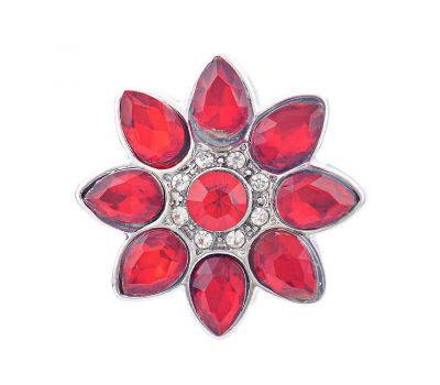 Bijuterie Buton Interschimbabil Model Floral Cu Cristale in 4 culori, fig. 4