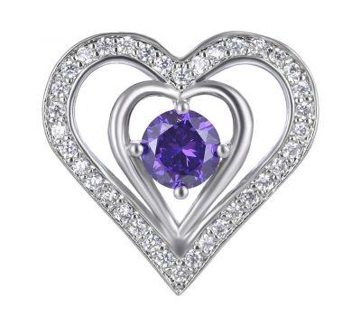 Bijuterie Buton Interschimbabil Heart Luxury, fig. 1