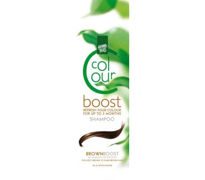 Sampon colorant, Colour Boost Brown, Hennaplus, 200 ml, fig. 1