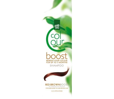 Sampon colorant, Colour Boost Red Brown, Hennaplus, 200 ml, fig. 1