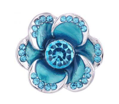 Bijuterie Buton Interschimbabil |  Floare de Cristal in 3 Variante de Culori  | Vintage | Metal
