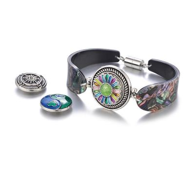 Bratara Interschimbabila Acrilica cu Magnet in 2 Variante de Culori | Fashion