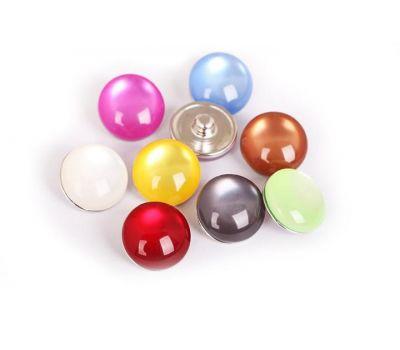 Bijuterie Buton Interschimbabil | Perle Multicolore din Silicon | Fashion | Metal